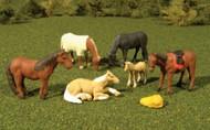 Bachmann  HO Scenescapes Horses (6) BAC33119