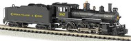 Bachmann  N Baldwin 4-6-0 Steam Locomotive DCC Equipped Chesapeake & Ohio #387 (Black & Yellow)- Net Pricing BAC51460