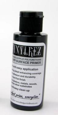 Badger  Primer Stynylrez Water-Based Acrylic Primer Black 4oz. Bottle BAD403