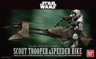 Bandai  1/12 Star Wars: Scout Trooper & Speeder Bike (Snap) BAN196693