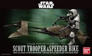 Bandai  1/12 Star Wars: Scout Trooper & Speeder Bike (Snap) BAN196693