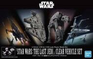 Bandai  1/144 1/350 1/540 1/144 & 1/350 & 1/540 Star Wars: The Last Jedi Clear Vehicle Set ''Star Wars'' BAN5058919