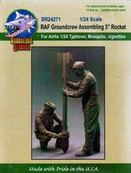 "BarracudaCast  1/24 RAF Groundcrew Assembling 3"""" Rocket"" BARBR24271"