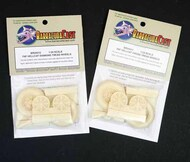 BarracudaCast  1/24 F6F Hellcat Diamond Tread Wheels (AFX kit) BARBR24412