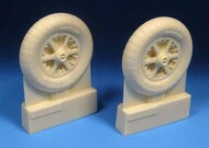 BarracudaCast  1/24 Bf.109E Bf109F Main Wheels with Ribbed Tires BARBR24435