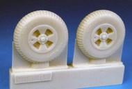 Hawker Tempest Late Main Wheels Block Tread (EDU kit) #BARBR48404