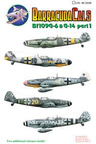 Barracuda Studio  1/32 Bf.109G-6 Part 1: Bf.109G-6. White Chevr BARBC32230