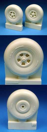 BarracudaCast  1/24 Hawker Typhoon Late Style Main Wheels for ARX #19002 (Resin) BARBR24201