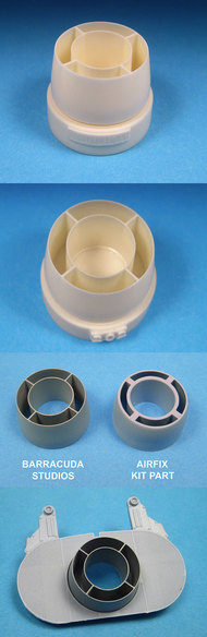 BarracudaCast  1/24 Hawker Typhoon Carburetor Intake Ring for ARX #19002 (Resin) BARBR24202