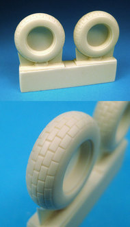 Barracuda Studio  1/32 P-51D Block Tread Tires for TAM (Resin) (D)<!-- _Disc_ --> BCL32032