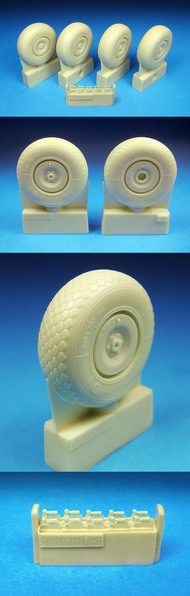 BarracudaCast  1/32 He.219 Diamond Tread Main Wheels for RVL (Resin) (D)<!-- _Disc_ --> BARBR32062