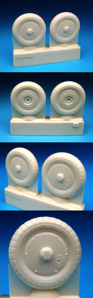 BarracudaCast  1/32 Bf.109G Wheels Ribbed Hub, Ribbed Tire for HSG/RVL/TSM (Resin) (D)<!-- _Disc_ --> BARBR32070