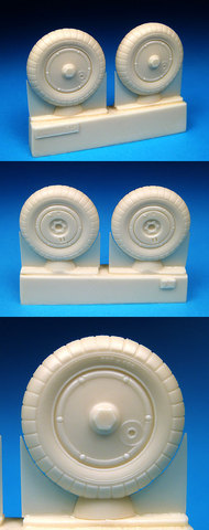 BarracudaCast  1/32 Bf.109G Wheels Plain Hub, Ribbed Tire for HSG/RVL/TSM (Resin) (D)<!-- _Disc_ --> BARBR32072
