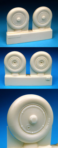 BarracudaCast  1/32 Bf.109G Wheels Plain Hub, Smooth Tire for HSG/RVL/TSM (Resin) (D)<!-- _Disc_ --> BARBR32073