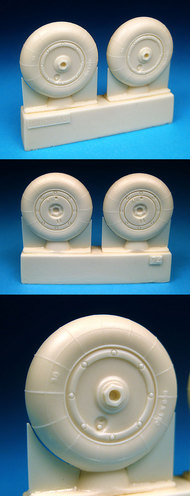 BarracudaCast  1/32 Bf.109G-10 & 109K-4 Main Wheels for HSG/TSM (Resin) (D)<!-- _Disc_ --> BARBR32074