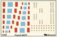 Begemot  1/350 French Navy Flags and Markings. BT350-002