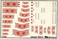 Begemot  1/350 Japan Navy Navy Flags and Markings. BT350-003