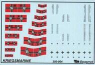 Begemot  1/350 German Kriegsmarine flags and markings BT350-004
