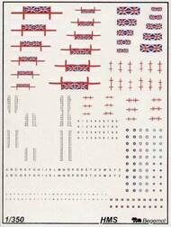 Begemot  1/350 Royal Navy/RN flags and markings BT350-005