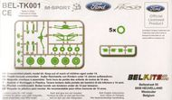Bel Kits  1/24 Ford Fiesta Gravel Rally conversion set (designed to be used with Bel kits) BELTK001