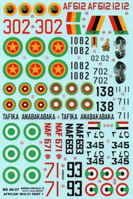 Berna Decals  1/48 African Air Forces Mikoyan MIG-21 Part 1 (was 48-78 revised and augmented) BER48097