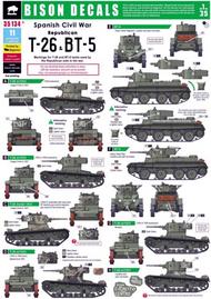 Spanish Civil War #3 - Republican T-26 and BT-5 tanks #BBD35134