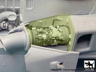 Agusta-Westland Merlin HC.3 engine set N°2 (designed to be used with Airfix kits) #BDOA48059