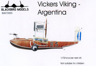 Blackbird Models  1/72 Vickers Viking flying boat - Argentina [this is the former Montex kit] Decals included for Argentine Navy 1923 BMK72003