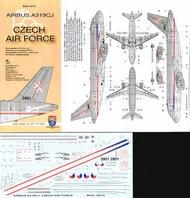 Boa Decals  1/144 Airbus A319CJ CZECH Air Force - Pre-Order Item BOA14415