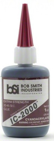 BOB SMITH INDUSTRIES   N/A Ic-2000 Black Rubber-Toughened CA Glue 1oz BSI118