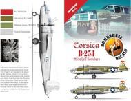 Bombshell  1/48 North-American B-25J Mitchell (2) 321st BG 43-27751/50 `Margaret Mary Rustin'; 43-27680/07 `Stuff'; Italy 1945. BS48001