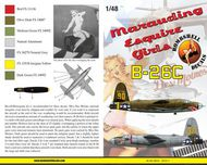 Bombshell  1/48 Martin B-26C Marauder (2) 42-107541/90 444th BS/320th BG 2nd Lt Leland Sherman AnnG with shark mouth OD/grey; 42-107854/30 442nd BS/320th BG Miss Des Moines' BS48010