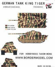 Border Models  1/35 Airbrush Camo Mask Set - German King Tiger Tricolor Stripes Scheme BDMBD0022