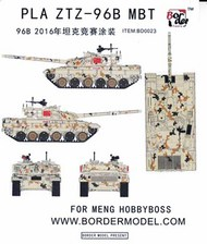 Border Models  1/35 Airbrush Camo Mask Set - PLA ZTZ-96B MBT Digital Camo BDMBD0023