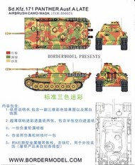 Border Models  1/35 Airbrush Camo Mask Set - Sd.Kfz.171 Panther Ausf.A Late Three Color Camo Scheme BDMBD0024