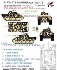 Border Models  1/35 Airbrush Camo Mask Set - Sd.Kfz.171 Panther Ausf.A Late Dark BDMBD0028