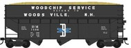 BOWSER TRAINS  HO R-T-R 70-Ton Offset Wood Chip Hopper Boston & Maine #41954 - Pre-Order Item BOW41954