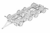 Brengun Models  1/144 Culemeyer four axles resin kit of German heavy trailer BRS144047