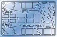 Bronco Models  1/35 Piper L-4H Grasshopper Canopy Mask (BOM) BOM3510