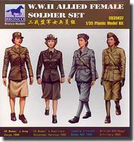 Bronco Models  1/35 WWII Allied Female Soldier Set (4 Figures) BOM35037
