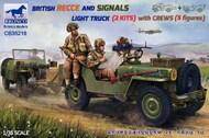 British Recce and signals light truck (2 kits) #BOM35218