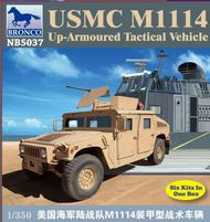 Bronco Models  1/350 USMC M1114 Up-Armoured Tactical Vehicle. 6 kits in box BOM5037