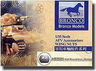Bronco Models  1/35 Generic Hexagonal Bolt Nuts- Net Pricing BOMA3505