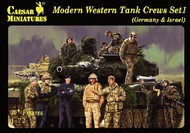 Caesar Miniatures Figures  1/72 Modern Western Tank Crews Set 1: Germany & Israel (30+) CMFH102