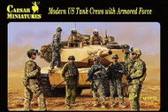 Caesar Miniatures Figures  1/72 Modern US Tank Crews w/Armored Force (30+) CMFH103
