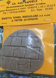 CA.MA Models  1/35 Round Irregular Base  6 x 6 cm with square stones CAMA35318