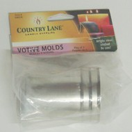 CANDLE MAKING SUPPLIES   N/A Metal Candle Votive Molds (3/Bag) (D)<!-- _Disc_ --> CND50014