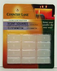 CANDLE MAKING SUPPLIES   N/A Concentrated Scent Square Citronella 1/2oz. (Blister Cd) (D)<!-- _Disc_ --> CND70704