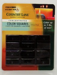 CANDLE MAKING SUPPLIES   N/A Concentrated Color Square Holiday Red 1/2oz. (Blister Cd) (D)<!-- _Disc_ --> CND90603