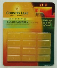 CANDLE MAKING SUPPLIES   N/A Concentrated Color Square Yellow 1/2oz. (Blister Cd) (D)<!-- _Disc_ --> CND90606